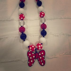 Handmade Minnie Mouse Necklace